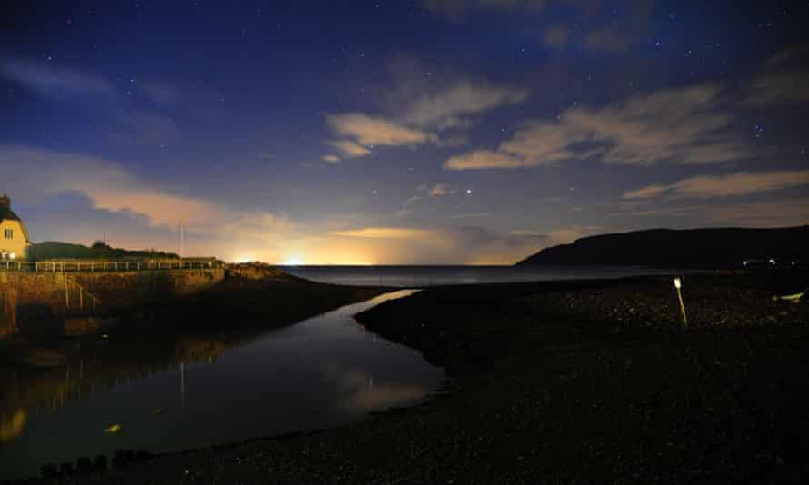 The night sky over Porlock Weir, Somerset