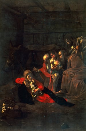 Caravaggio'a Adoration of the Shepherds (1609).