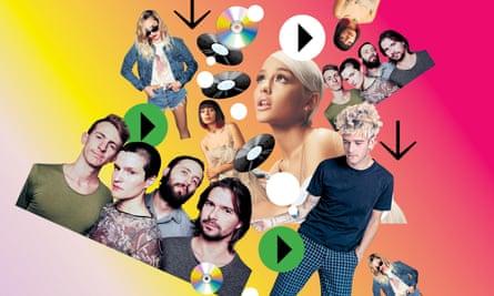 Do keep up: prolific pop stars Big Thief, Miley Cyrus, Charli XCX, Ariana Grande and Matt Healy, frontman of The 1975.