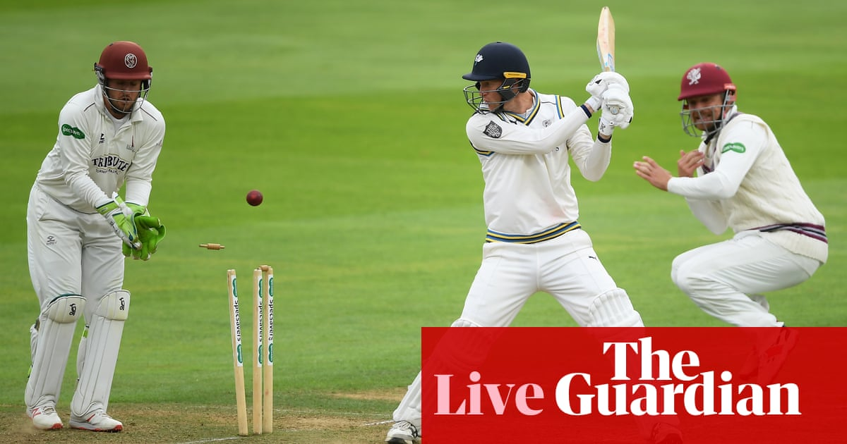 County cricket: Yorkshire collapse hands Somerset title boost –as it happened
