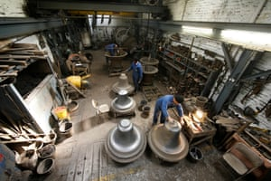 The loam room where, 150 years ago, the Big Ben bell was moulded and cast.