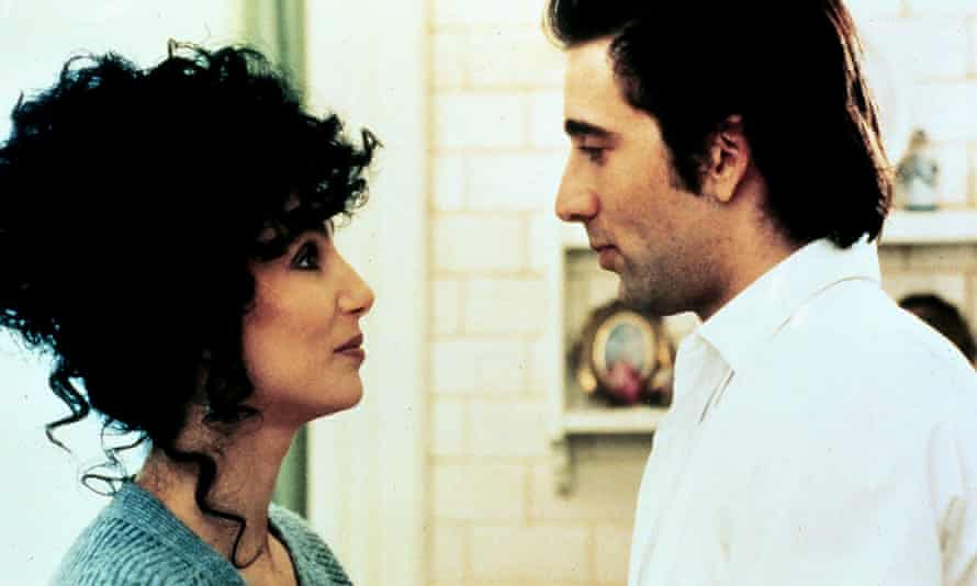 Cher with Nicholas Cage in the 1987 film Moonstruck