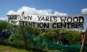 'There is nothing shocking there' … protests at Yarl's Wood