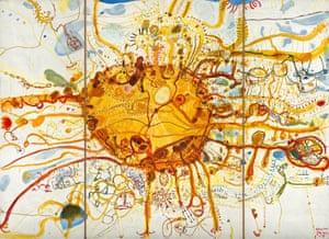 Sydney sun (or King Sun), 1965, by John Olsen