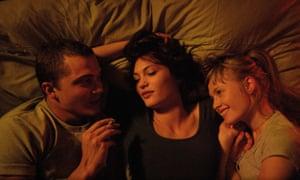Erotic artifice … Karl Glusman, Aomi Muyock and Klara Kristin in Love