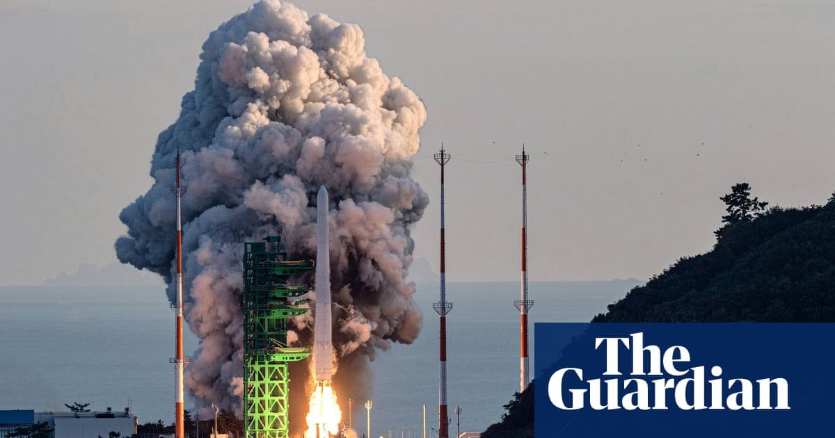 South Korea launches its first homemade space rocket
