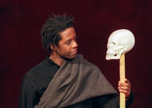 Adrian Lester played Hamlet in a Peter Brook at the Bouffes du Nord in Paris in 2000.