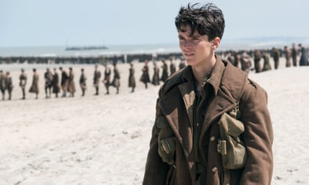 Fionn Whitehead in a scene from the film Dunkirk.