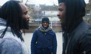Director Lanre Malaolu on the set of The Circle