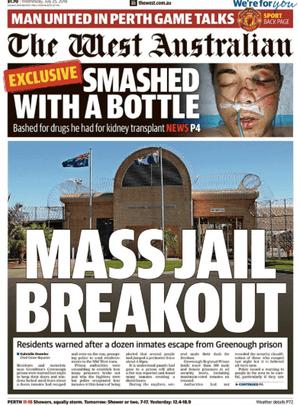 West Australian front page