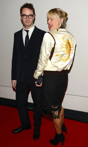 Refn with his wife Liv Corfixen in 2012.