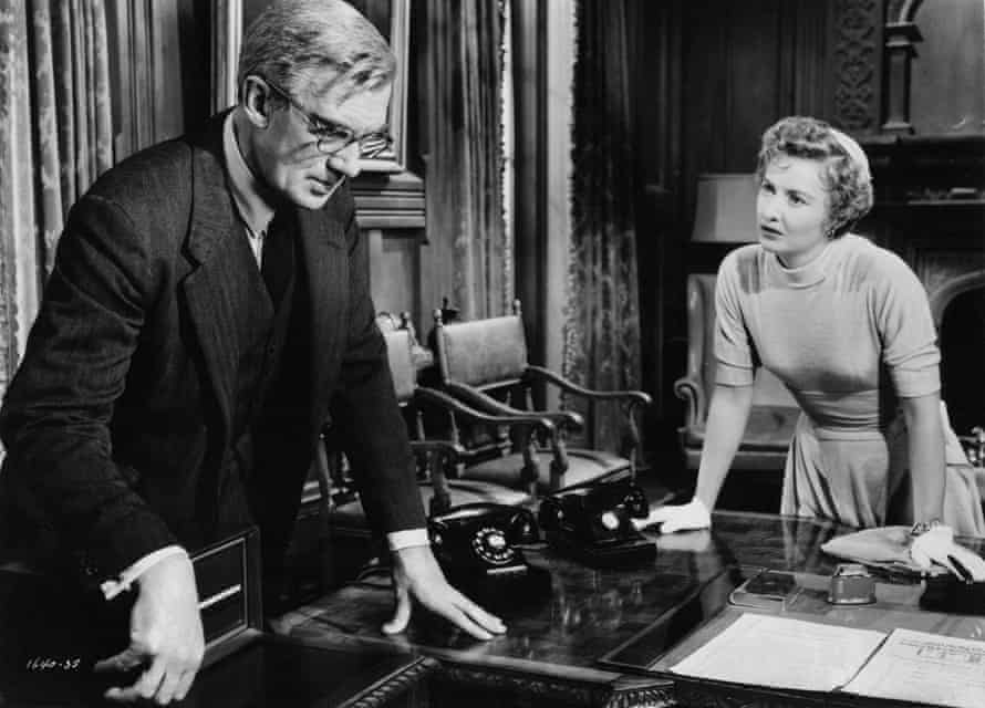 Walter Pidgeon and Barbara Stanwyck in Executive Suite, 1954.