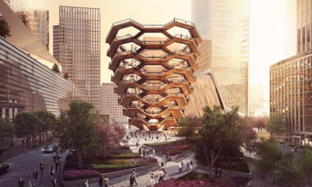 'Hudson Yards will be centered around 'the Vessel', a 15-story high answer to the question, 'How much money could a rich man waste building a climbable version of an MC Escher drawing?'.'