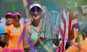 Victoria Azarenka, the BNP Paribas Open women's champion.