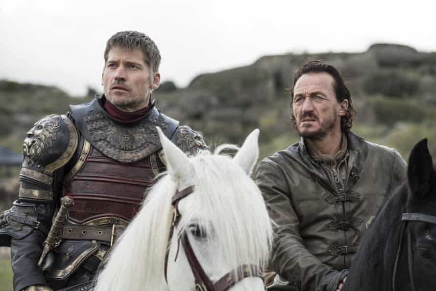 Nikolaj Coster-Waldau as Jaime and Jerome Flynn as Bronn