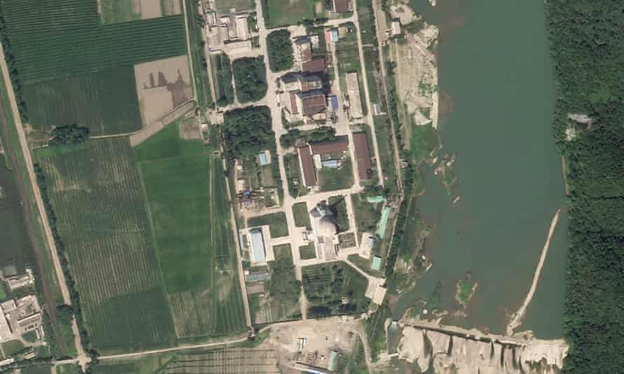 A satellite photo shows North Korea's main nuclear complex in Yongbyon, just north of the capital, Pyongyang.