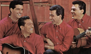 Tommy DeVito, second left, with fellow Four Seasons Bob Gaudio, Frankie Valli and Nick Massi.