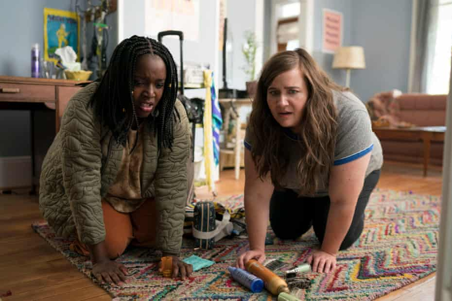 Lolly Adefope and Aidy Bryant in Raucous.