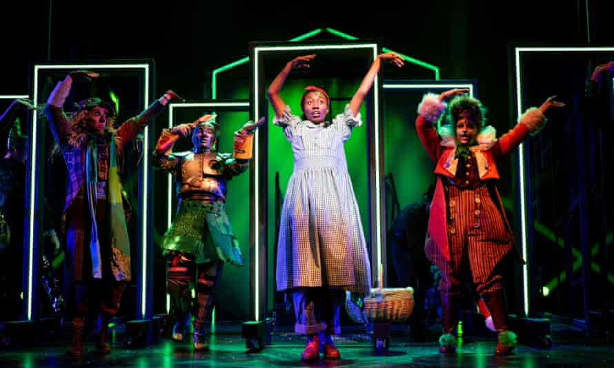 Chisara Agor, centre, is a feisty Dorothy … The Wizard of Oz at Birmingham Rep.