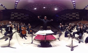 The whites-of-the-eyes perspective of the Philharmonia Orchestra's principal conductor Esa-Pekka Salonen.