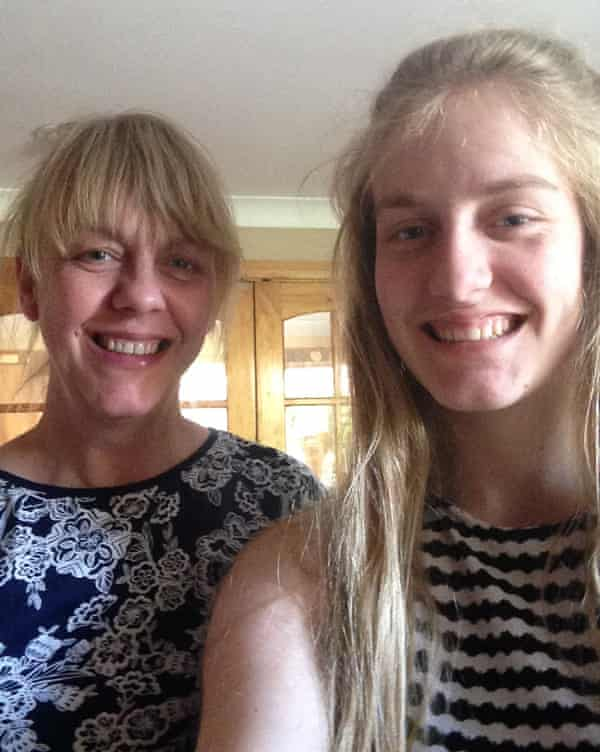 Claire and Charlotte Hart at home in June 2015. Photograph: courtesy of Ryan Hart
