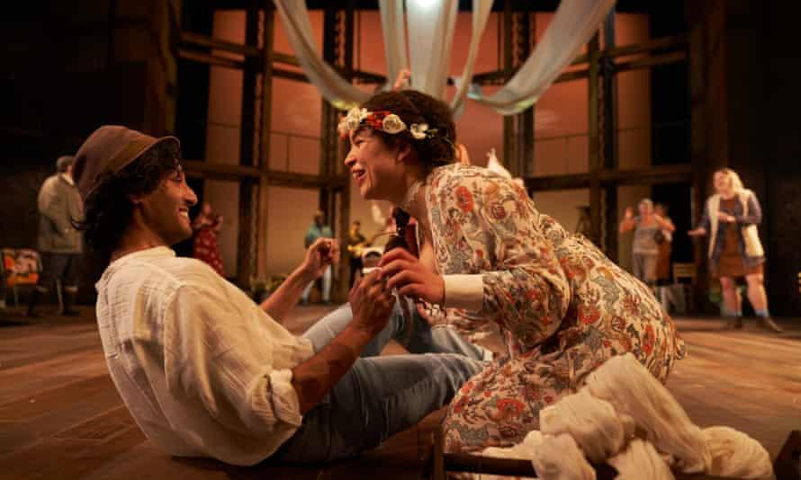Assad Zaman and Georgia Landers as Florizel and Perdita in The Winter's Tale.