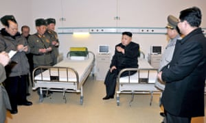 Kim Jong-un inspects a hospital in Pyongyang