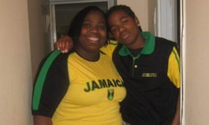 Tajay Thomson and his mother Carline Angus.