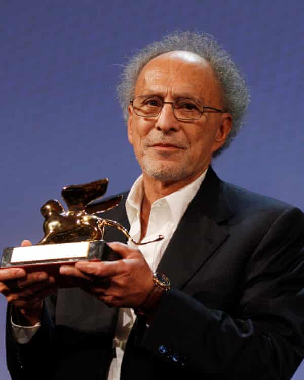 Monte Hellman receiving the Special Lion career award from the Venice film festival, 2010, following the release of his film Road to Nowhere