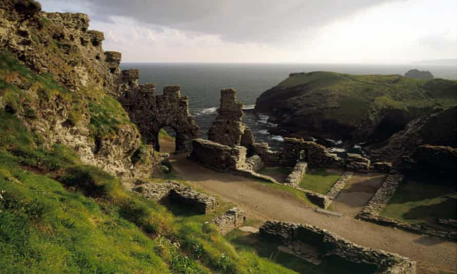 The ruins of Cornwall's Tintagel Castle, among the places Peter Fiennes visits