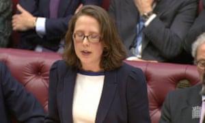 Natalie Evans, leader of the Lords.