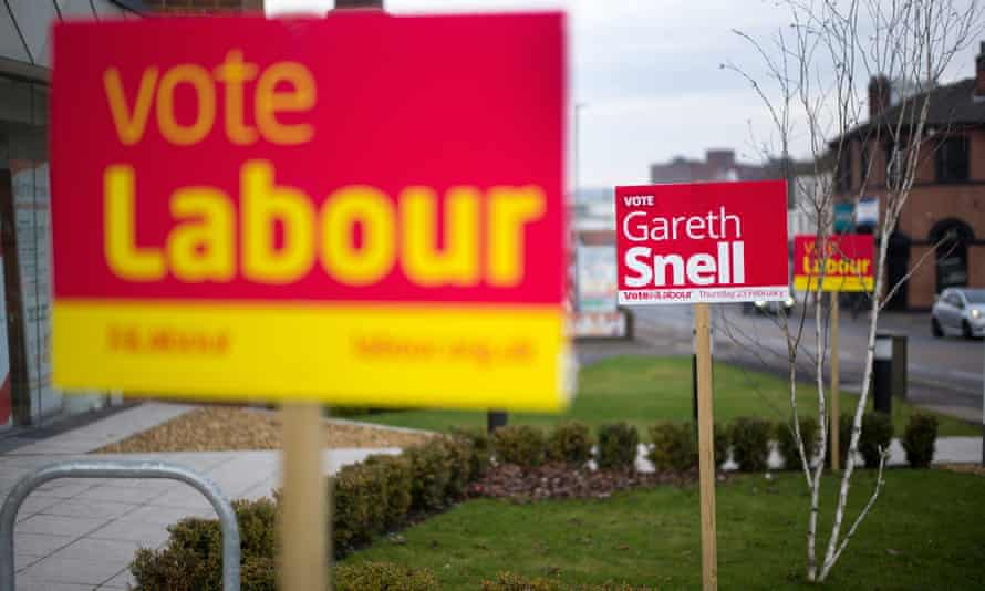Labour signs in Stoke-on-Trent