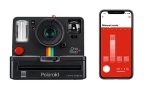 The Polaroid Originals OneStep+ analogue camera and connected smartphone app determining the mode.