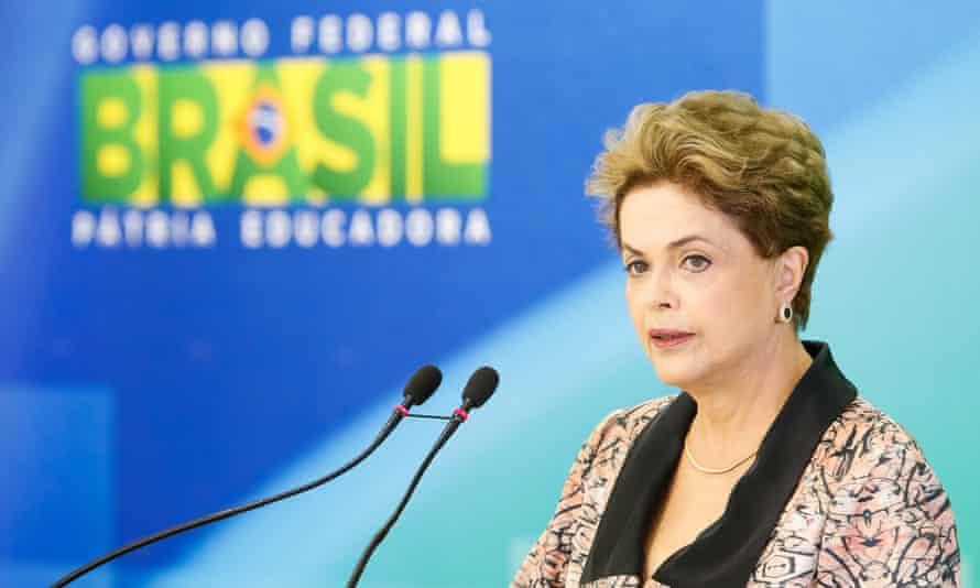 Brazilian President Dilma Rousseff press conference in Brasilia