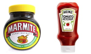 Marmite and Heinz ketchup
