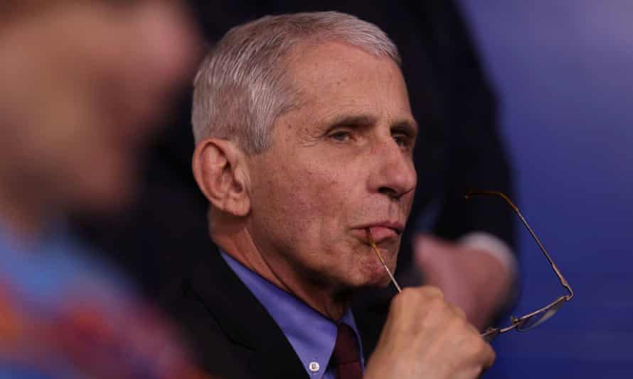 Dr Anthony Fauci, director of the National Institute of Allergy and Infectious Diseases, on Friday.