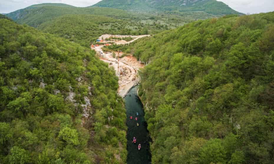 Medna construction site on the Sana in Bosnia