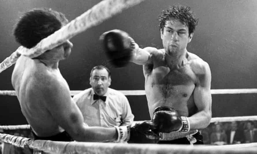 Kevin Mahon, Martin Denkin and Robert De Niro in Raging Bull.