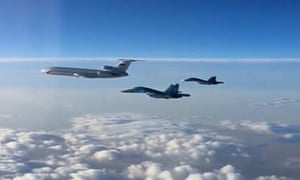 First group of Russian aircraft leaves Hmeymim air base.