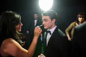 Daniel Radcliffe is made up