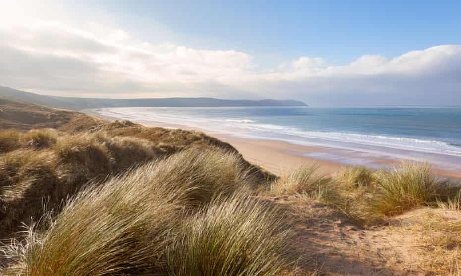 Woolacombe beach in North Devon.