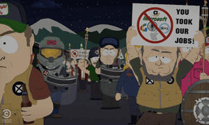 A scene from the season 21 premiere of South Park will feature a white supremacist rally