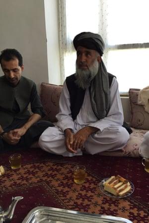 Malik Mullah Mirjan speaks in the village of Davo in Logar Province