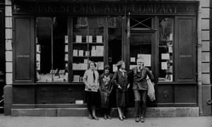 Ernest Hemingway and three women, including Sylvia Joly (third from left), the director of Shakespeare and Company, in 1926.