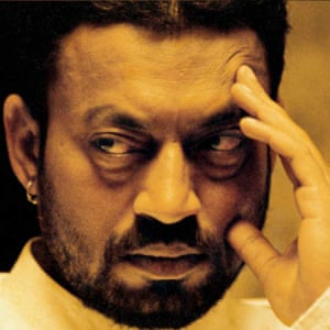 Irrfan Khan in Maqbool, a Bollywood adaptation of Shakespeare's Macbeth as a crime thriller.