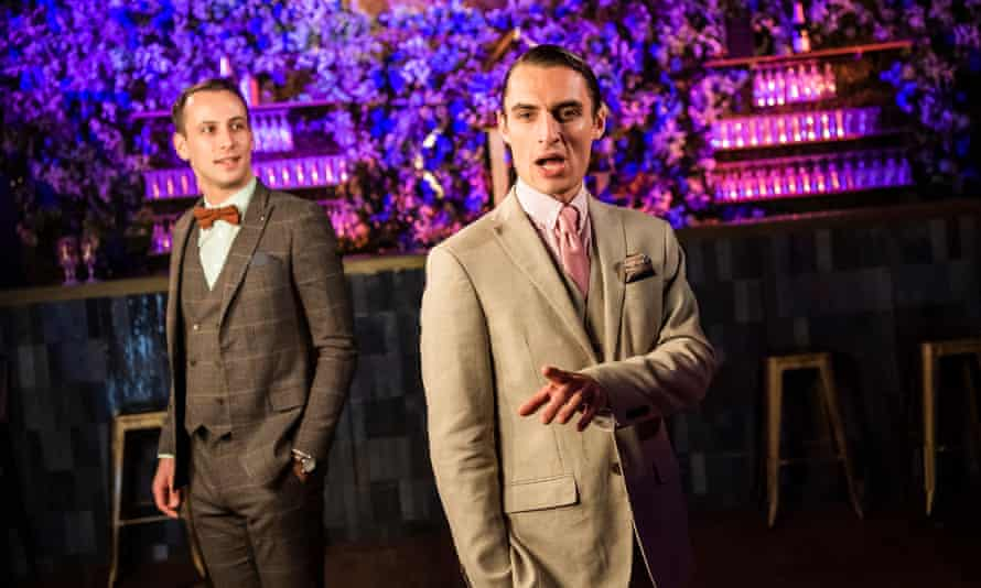 Distanced decadence ... James Lawrence (Nick Carraway) and Craig Hamilton (Jay Gatsby) in The Great Gatsby.