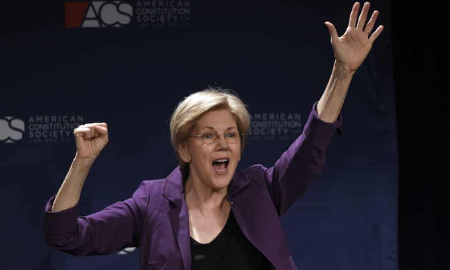 Elizabeth Warren after speaking at the American Constitution Society for Law.