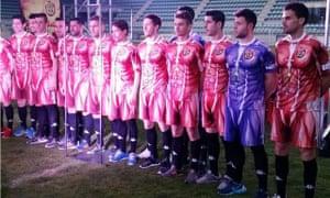 Club Deportivo Palencia's new full-bodied kit.