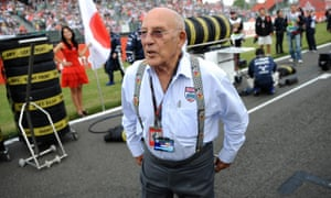 Sir Stirling Moss at Silverstone before the British Grand Prix in 2009