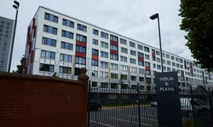 Plane Court had its exterior cladding removed as tests found it to be flammable.